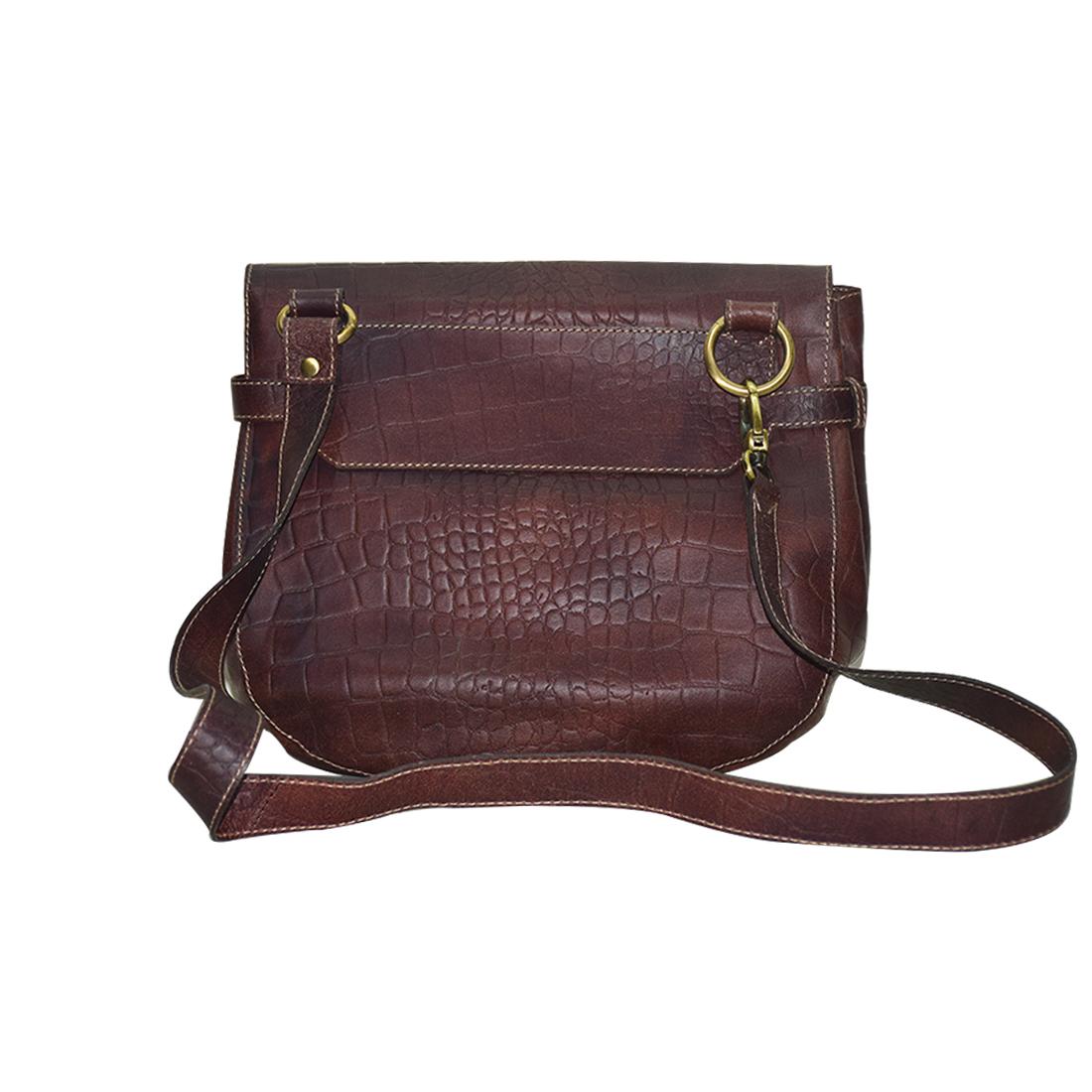 Leather Sling Shoulder Bag
