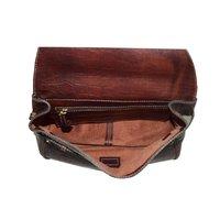 Leather Shoulder Bag in croco print