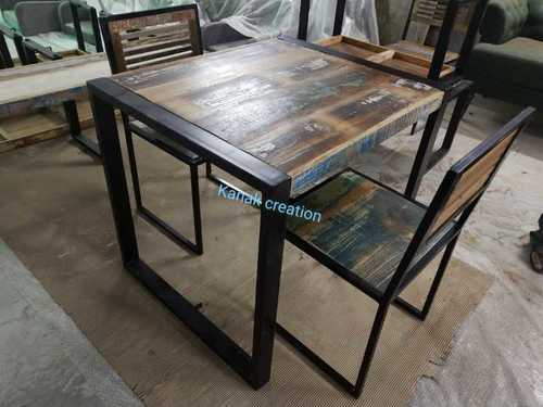 IRON + RECLAIMED WOOD TOP