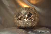 Silver Glass Candle Votive