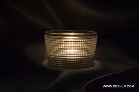 Dotted Glass Shape Candle Holder