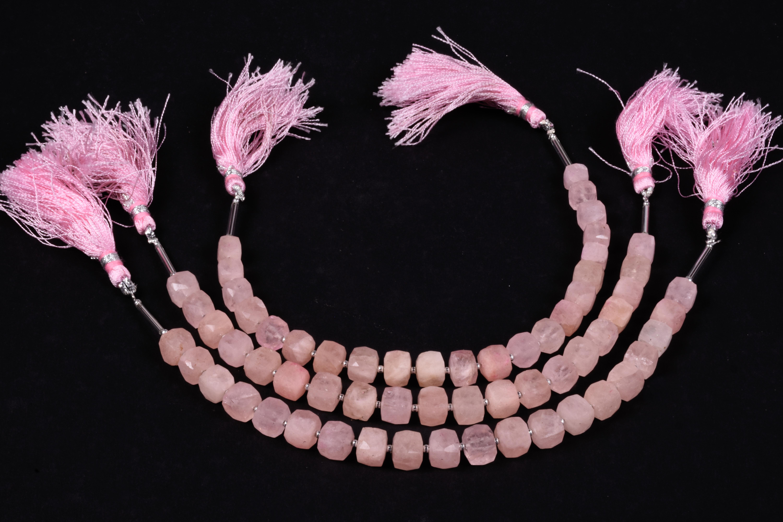 Morganite Faceted Box Beads
