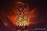 Pipe Shape Mosaic Candle Holder
