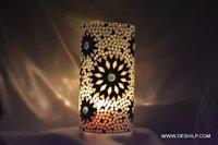 Multi Mosaic Glass Candle