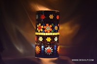 Multi Mosaic Home Decor Glass Candle Holder