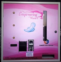 Coin and Note Operated Sanitary Napkin Vending Machine
