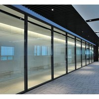 SPS 2545 Slim Glaze Glass Aluminum Office Partition