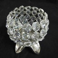 Crystal Bowl Candle Holder