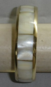 Brass Bangle with MOP