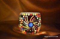 Small Beautiful Glass Candle Holder