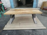 Wooden Metal Dining Table