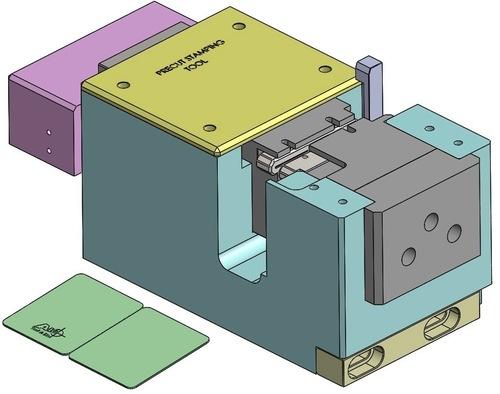 Half Card Dividing Stamping Tool