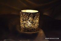 Silver Finish Decor Glass T Light Votive