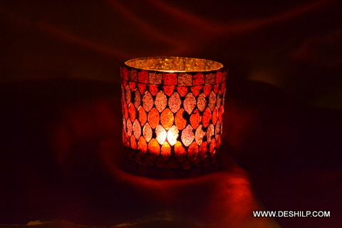 Beautiful Glass Candle Holder