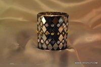 Black Mosaic Candle Holder