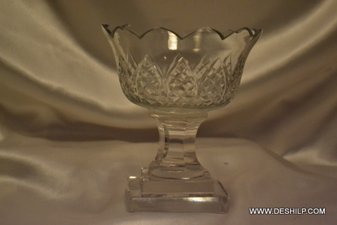 Cutting Glass T Light Candle Holder