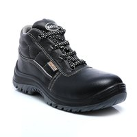 Black Carbon Leather Safety Shoe