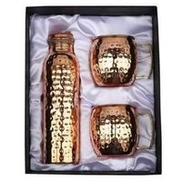 Copper Bottle & Mug Set