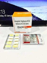 Glimepiride 1mg + Metformin 500 mg + Pioglitazone 15 mg (SR)