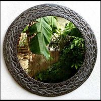 Fancy Round Wall Mirror