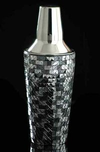 silver designed cocktail shaker