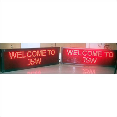 Led Ticker Display Application: For Information And  Advertisement Use