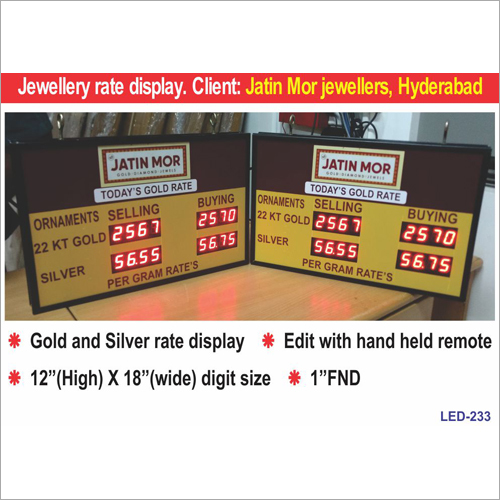 Gold Rate Display Board