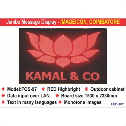 Jumbo Led Display Application: For Industrial Use
