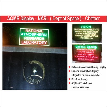 Led Aaqms Display Board Application: For Industrial Use