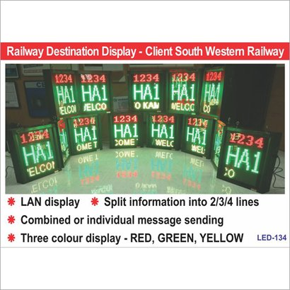 Led Destination Boards Application: For Industrial Use