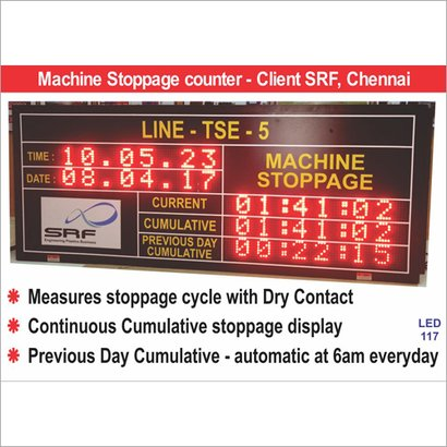 Led Downtime Monitor Application: For Industrial Use
