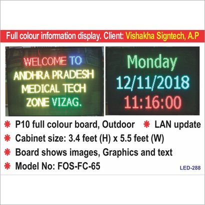 Led Multiline Display Application: For Industrial Use