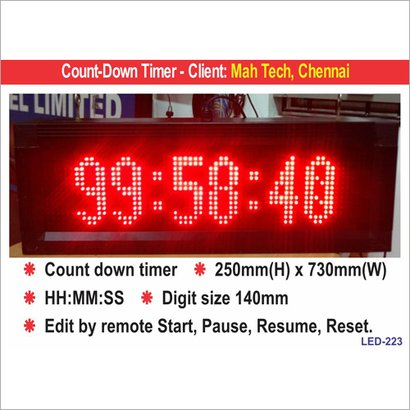 Led Timers Application: For Industrial Use