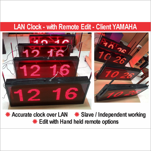 LED LAN Network Clocks