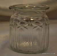 Small Cutting Glass Jar