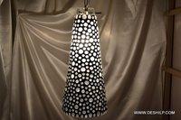 Black & White Mosaic Wall Hanging Lamp