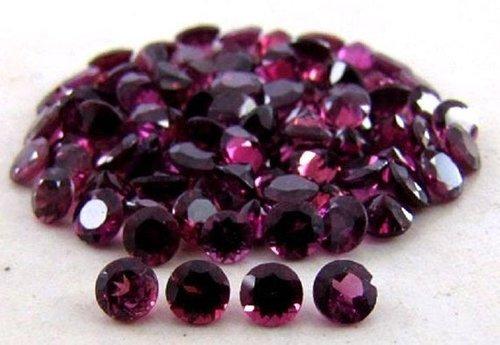 6mm Natural Purple Rhodolite Garnet Faceted Round Gemstone
