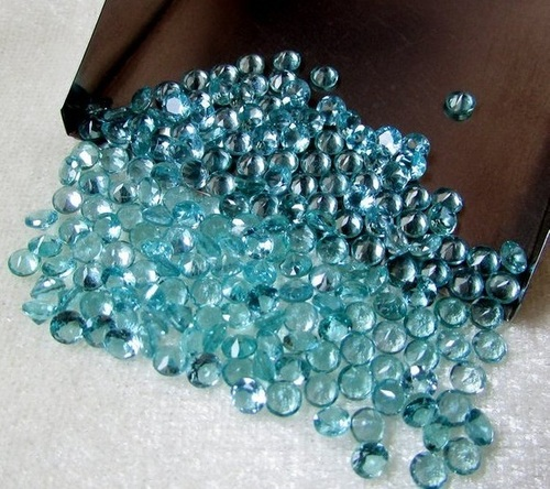 2mm Natural Blue Apatite Faceted Round Loose Gemstone