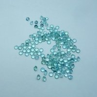 3mm Natural Blue Apatite Faceted Round Loose Gemstone