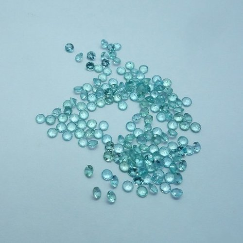 3.5mm Natural Blue Apatite Faceted Round Cut Gemstone