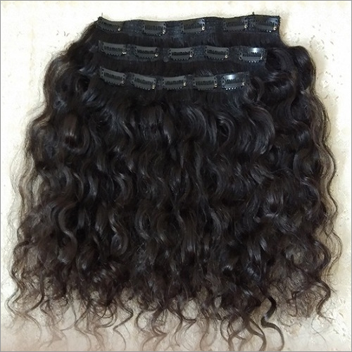 Natural Curly Clip in hair