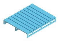 Single Deck Stainless Steel Pallets