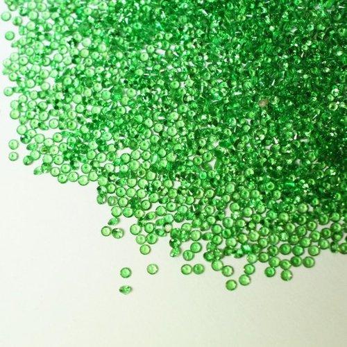 2mm Natural Green Garnet Faceted Round Gemstone Loose