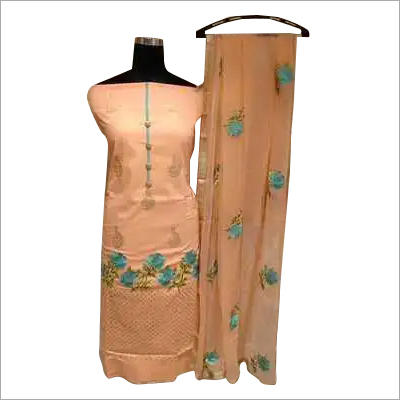 Ladies Unstitched Floral Embroidered Suit