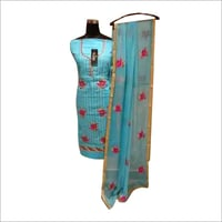 Ladies Embroidered Semi Stitched Suit