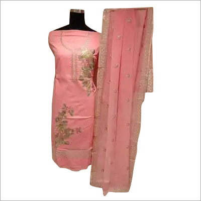 Ladies Unstitched Partywear Suit