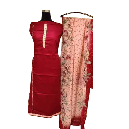 Ladies Semi Stitched Silk Suit