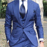 Mens 3 Piece Striped Suit