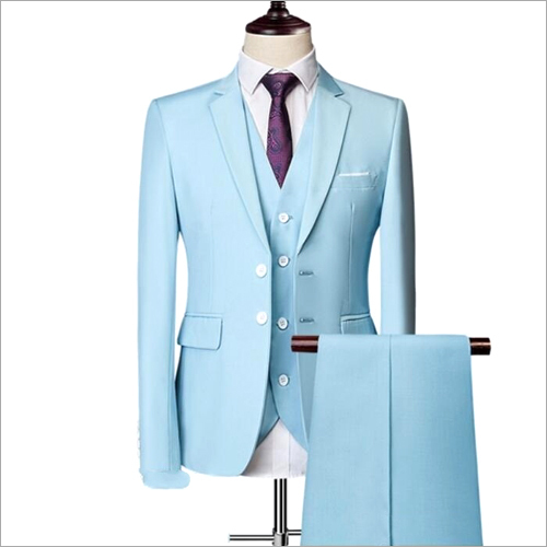 Mens 3 Piece Plain Formal Suit