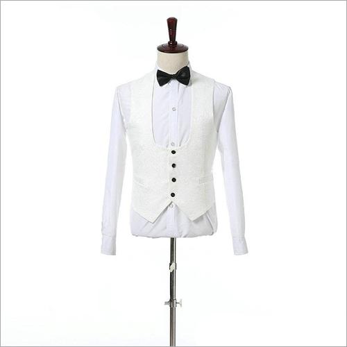 Mens White Waistcoat